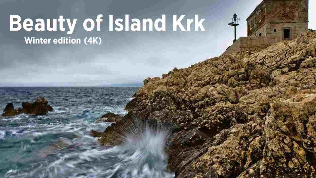 Krk sziget téli szépsége madárnézetből